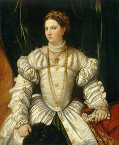 Moretto da Brescia Portrait of a Lady in White, c. 1540. NCA, Washington, DC by renzodionigi, via Flickr