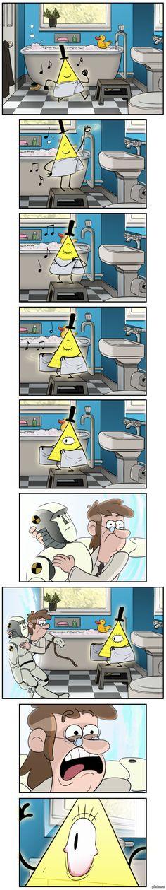 Первый контакт А что бы ты сделал(-ла), увидев моющегося в твоей ванной Била?