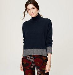 Relaxed Turtleneck Sweater | Loft
