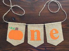 Pumpkin ONE Highchair Banner//Halloween First Birthday//Cake Smash Photo Prop// asher + blaine by asherblaine on Etsy