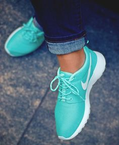 Tiffany blue Nike's