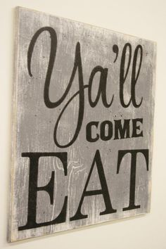 cool Y'all Come Eat Wood Sign Kitchen Sign Dining Room Sign Vintage Wall Decor Farmhouse Sign Housewarming Gift Wedding Gift Southern Wall Decor by http://www.top-100-home-decor-pics.club/dining-room-decorating/yall-come-eat-wood-sign-kitchen-sign-dining-room-sign-vintage-wall-decor-farmhouse-sign-housewarming-gift-wedding-gift-southern-wall-decor/