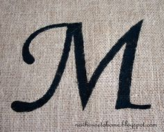 From New House to Home: Stenciled Burlap. how to stencil on burlap