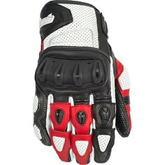 Special Offers - Cortech Impulse ST Adult Street Bike Motorcycle Gloves  White/Red / Large - In stock & Free Shipping. You can save more money! Check It (June 17 2016 at 03:54PM) >> http://bestsportbikejacket.com/cortech-impulse-st-adult-street-bike-motorcycle-gloves-whitered-large/