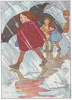 The Rain illustrated by Margaret C. Hoopes by katinthecupboard, via Flickr