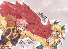Natsu, Igneel and Lucy