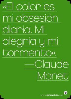 Una cita de Claude Monet.
