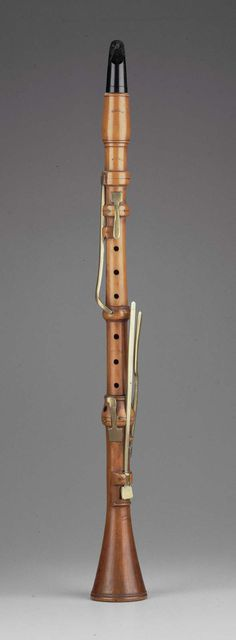 Clarinet in B-flat, c. 1780-90, made by Heinrich Carl Tolckle, Germany. Made of boxwood with an ebony mouthpiece.