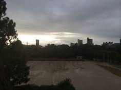 福岡城から 嵐の後 雲の切れ間から 2014.09.25