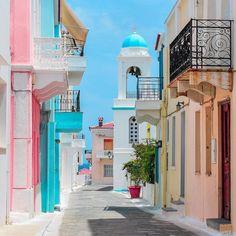 Greek Beauty, Corfu, Greece, Landscapes, Wanderlust, Island, Mansions, Cool Stuff, House Styles