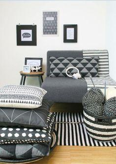 Volgens het HEMA designteam is zwart-wit de woontrend van dit moment!