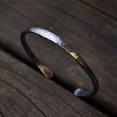 Men's Jewelry - Cuff Bracelet - Men's Bracelet - Guy Jewelry - Man Men Guy - Rugged Look - EcoFriendly Silver  - Custom Personalized by thebeadgirl on Etsy https://www.etsy.com/listing/168364644/mens-jewelry-cuff-bracelet-mens-bracelet