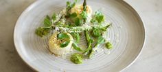 Baked Ricotta with Asparagus Pesto and Griddled and Baked Asparagus - the British Larder