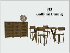 3t2 Wondymoon Gallium Dining  Set Includes:  • Table  • Chair  • Console  • Decor Plate  • Candles  Files are compressorized  Multipliers , previews and collection file included  Download