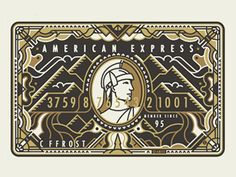 Next in the series, our interpretation of Amex Gold Card