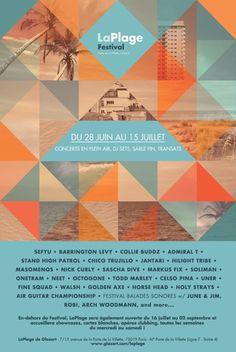 Du 28 juin 2012 au 15 juillet, 3e édition du festival LaPlage, l'oasis de concert à Paris.. pour un début d'été exotique, décalé et rafraîchissant. N'oubliez pas votre crème sonore !