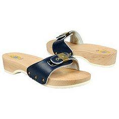 Dr. Scholls exercise sandals.  Wooden soles.  least comfortable sandals ever.