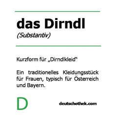 #WortderWoche: das Dirndl. #Deutschothek #Sprachschule #Deutschlernen New Words, Language School, Learn German, Dirndl