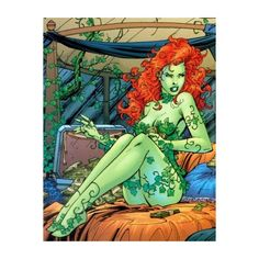 Picturient.com ❤ liked on Polyvore featuring poison ivy, backgrounds, comics, cartoons and dc