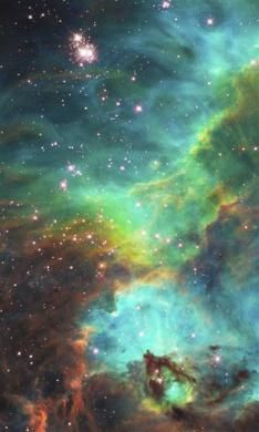 An image of a nebula about 170,000 light-years away.