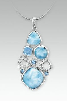 MarahLago Alexandria Collection Small Larimar Necklace/Pendant
