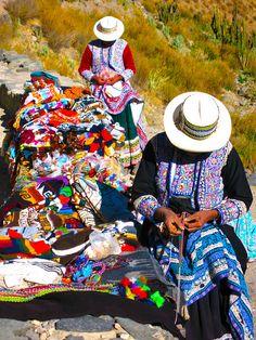 Peruvian ladies, Colca Canyon http://incatrail.info #incatrail #machupicchu #peru