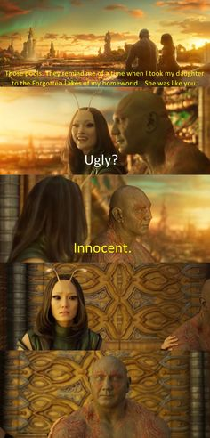 This moment made me realise Drax uses his laughter as a coping mechanism.>>>T^T poor Drax