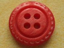 13 kleine rote KNÖPFE 15mm (3307) Knopf klein rot