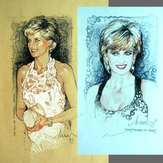 Diana / Princess Of Wales by Drew Struzan Anatomy Reference, Pose Reference, Star Wars Film, A Level Art, Indiana Jones, Princess Of Wales, American Artists, Good Movies, Album Covers