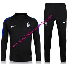 Officiel Nouveau Survetement de foot France Noir 2016 2017