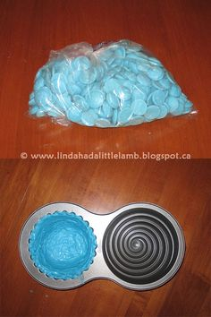 Linda had a Little Lamb: How to make a candy shell cake liner
