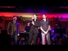 "Not only is this video swoon-worthly. I mean, Russell Fischer (Jersey Boys), Ben Fankhauser (Newsies) & Corey Mach (Godspell) and the playful vocal talents on display. But it's also a study in personality through body language. Here are the boys singing ""Love on Top"" at 54 Below."