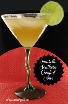 Time for a drink. Try this Amaretto Southern Comfort Sour cocktail .