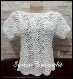 Crochet Blouse, Knit Crochet, Stitch Patterns, Knitting Patterns, Hobbies And Crafts, Crochet Clothes, Sweaters For Women, Sewing, Tiana