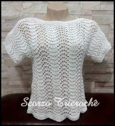 Crochet Blouse, Knit Crochet, Knitting Stitches, Knitting Patterns, Knitted Shawls, Crochet Clothes, Stitch Patterns, Sweaters For Women, Tiana