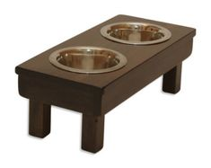 * 20 x 9 x 7 Tall * (2)- One Quart Embossed Stainless Steel Bowls included!  *Mealtime Comfort: From reducing neck strain to facilitating digestion, it's no surprise that vets recommend raised pet bowls for dogs of any breed. Available in five sizes, we carry the perfect fit for your furry friend and even offer smaller options for cats and pigs!  *Safe for Pets: Curious pups will chew just about anything. But unlike most other feeders, our cat and dog food bowls are non-toxic, eco-friendly…
