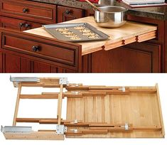 RAS-4TT-2133-1  Rev-A-Shelf Wood Pull-Out Tambour Table