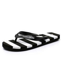 2016 New Arrival Summer Men Flip Flops Striped flat Slippers Beach Male Flat Sandals Leisure Shoes Men