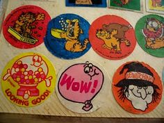 Remember when our sticker collections were so big that they required classification?  Scratch & sniff, puffies, shinies, google eyes, etc.