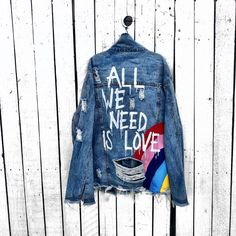 c08582f80a0b Custom painted Denim jackets Hand painted by me! You can check out ...