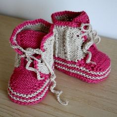 Knitting PATTERN (pdf file) Baby Twist Booties (0-6/6-12 months)