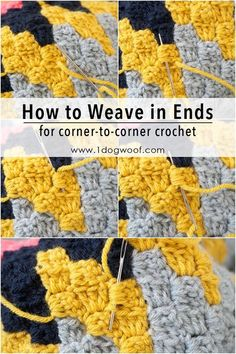 How to Weave in Ends for corner to corner crochet