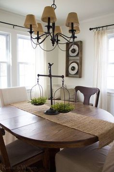 Our simple and pretty kitchen table centerpiece awesome blogger spring decorating the dining room dining room table centerpiecesdining watchthetrailerfo