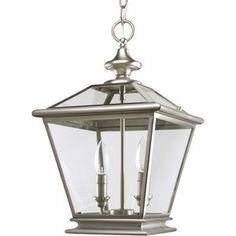 Progress Lighting Crestwood Hall Foyer Lamp in Burnished Silver