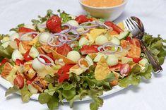 Texmex-salaatti Snack Recipes, Cooking Recipes, Healthy Recipes, Snacks, Corn Chips, Tortilla Chips, Tex Mex, Guacamole, Cobb Salad