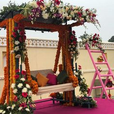 This decor at a terrace function can complete your function look   #function #weddingideas #floral #decor #inspiration