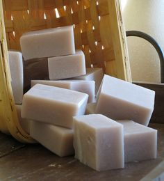 LILAC with Shea Butter    This creamy and luxurious soap will transport you to an English garden filled with lilac bushes on a spring morning! Guaranteed to put a smile on your face each time you use it.