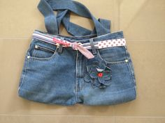 Tote bag made from jeans