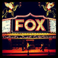 Fox Theater Detroit - I drive by nearly every day. I love the Fox Theater neon tower and weather ball
