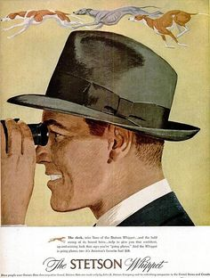 Here's a great Stetson print ad from 1948 showcasing the classic Whippet Fedora.